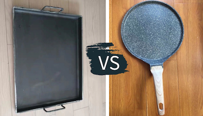 difference between griddle and skillet